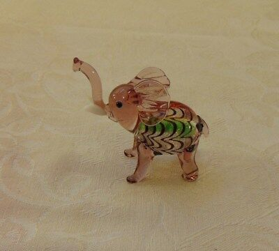 "3"" Glass Elephant"