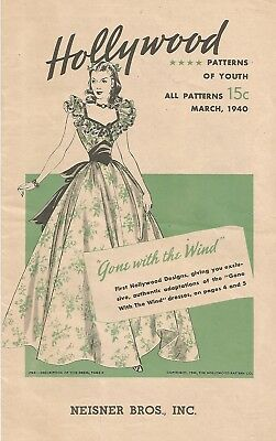 Gone With The Wind - Hollywood Patterns 1940 Order Booklet - Mint Condition!
