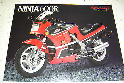 1 Kawasaki 1987 Ninja 600R Brochure  NOS.2 pages,