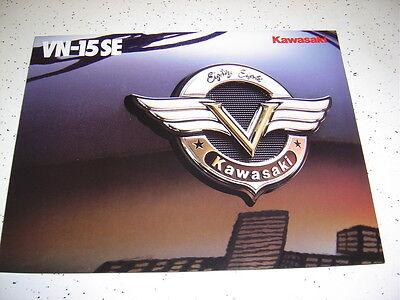1  1988 Kawasaki VN-1500-B2 Poster Type Brochure NOS.8 Pages.