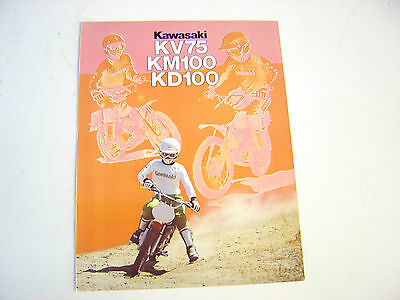 1979 Kawasaki Mini Bike Motorcycle Brochure NOS.