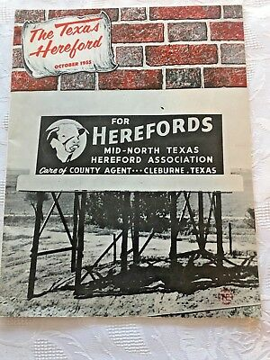 Vtg 1955 The Texas Hereford Magazine Cattle Sales Competitions 42 pgs