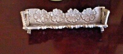VINTAGE OLD BEAUTIFUL SILVER? METAL Cracker Holder MADE IN INDIA.