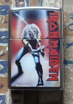 Music Iron Maiden Maiden Japan Zippo Lighter Free Flints