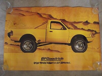 1994 BF Goodrich Yellow Pick-Up Truck Advertising Poster