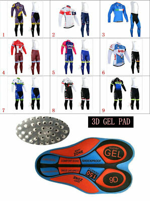 WL411 Mens Team Mtb Cycling Winter Thermal Fleece long sleeve jersey Bib Pants