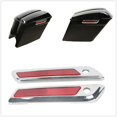 Saddle Bag Hinge Latch Covers For Harley Touring Electra Road Street Glide 14-19