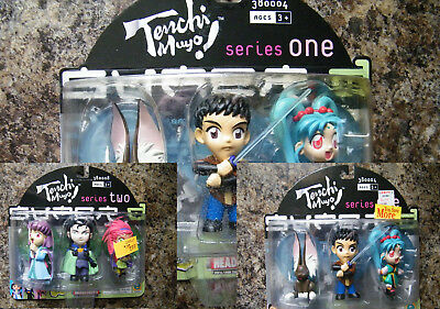 Tenchi Muyo Set of (3) Headliners Action Figures Series 1 & 2 [SEALED]