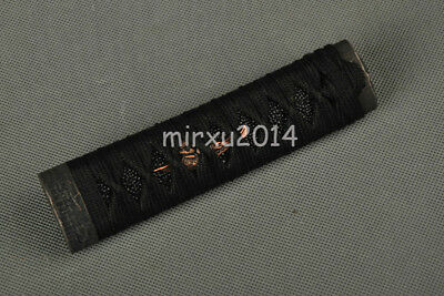 full black Tsuka &handle for Japanese Samurai tanto Swords imitative rayskin