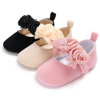 Baby Newborn Toddler Girl Crib Shoes Pram Prewalker Anti-slip Sneakers Soft Sole