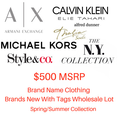 $500 Wholesale Lot Women's Brand Name Designer Clothing New With Tags