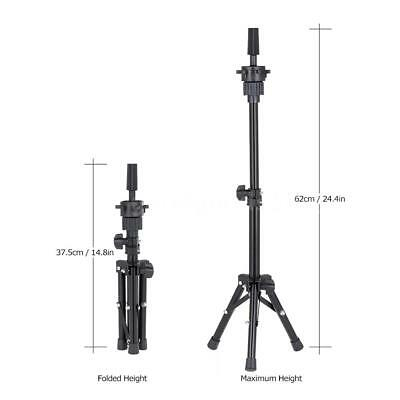 Adjustable Hairdressing Tripod Hair Training Mannequin Holder Wig Stand Tool