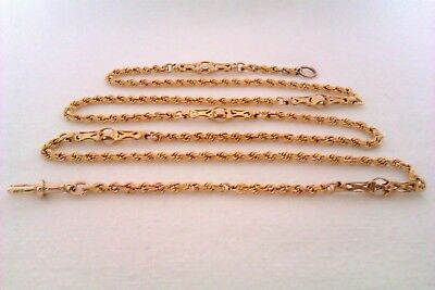 Extremely Rare & Heavy 9ct Gold Fancy Link Victorian Neck chain Circa 1881
