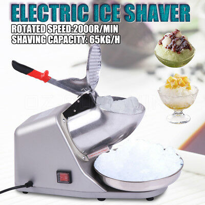 Electric ice Shaver/Maker/Crusher Commercial Machine Snow Cone 65KG/H 2000R/min