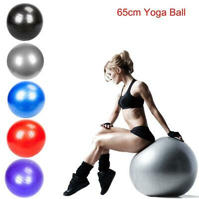 Exercise Ball 65cm for Fitness Stability Balance Yoga Workout w/Pump Anti Burst