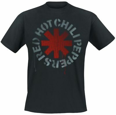 Red Hot Chili Peppers Stencil Black T-Shirt schwarz