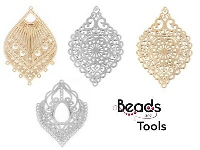Earring Findings - Chandelier Earring Parts - Filigree Earring Chandeliers