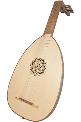 Roosebeck Deluxe Lute 6 Course 11 String Walnut Staves & Gig Bag