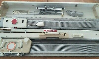 singer model 323 knitting machine + ribber attachment