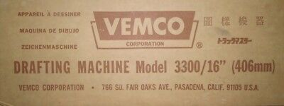 """VEMCO 16"""" DRAFTING ARM MACHINE MODEL 3300/16"""" With 2 ScalesNIB FREE SHIPPING"""