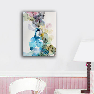 Framed Canvas Prints Stretched Abstract Watercolor Wall Art Home Decor Painting