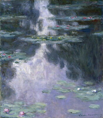Claude Monet Water Lilies Giclee Canvas Print Paintings Poster Reproduction