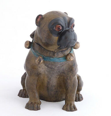 Pug Dog Antique Cold Painted Bronze