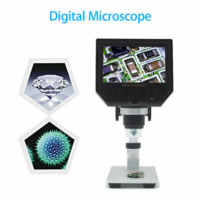 "1080P 4.3"" HD OLED 3.6MP 1-600X Magnifier Digital Microscope G600 Portable LCD"