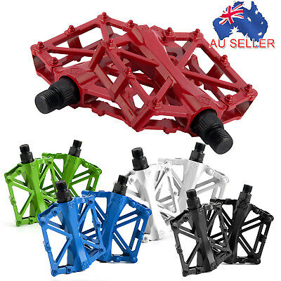 Platform Pedals MTB BMX Road Bicycle Pedal Mountain Bike Hollow Flat OBST221 AU