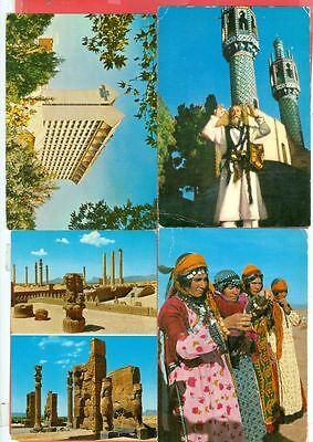 Middle East PERSIA 4 diff View Post Card to USA Lot#2477 gtc