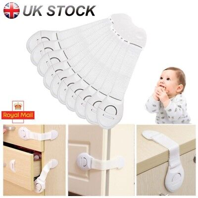 20 X Adhesive Baby Child Pet Proof Cupboard Door Drawer Safety Locks Catch Guard