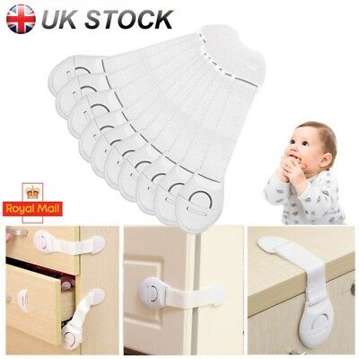 7/20 Adhesive Baby Child Pet Proof Cupboard Door Drawer Safety Locks Catch Guard