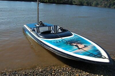 Ski Race Wakeboard Boat 1996 Stephens 18/6 Ft By Psycho Marine 19% Step Up