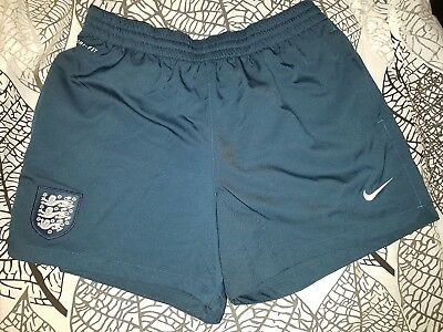 Nike England Dri-Fit Mens womens Sports Football Shorts zip pockets size M khaki