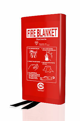 2 x KITEMARKED Fire Blanket 1m x 1m for Home Office Kitchen.British Standard EN3