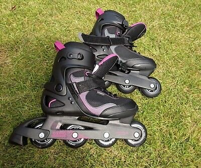 oxelo inline nearly new roller fit 3 lady skates size 40 UK 6.5
