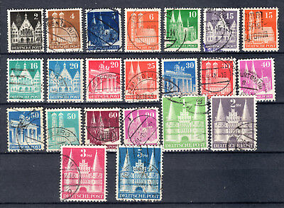 Germany 1948 Allied Occupation Churches Issue Full Set Of Used Stamp