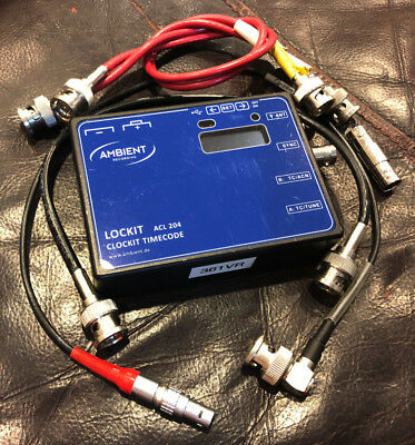 Ambient Recording ACL 204 - Lockit Sync Box with sync cable and bnc cables kit
