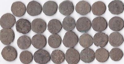 Lot Of 31 Ancient Uncleaned Roman Coins  Free Post