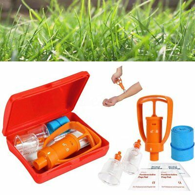 First Aid Safety Tool Kit LIVABIT Emergency Venom Snake Bee Bite Extractor Pump