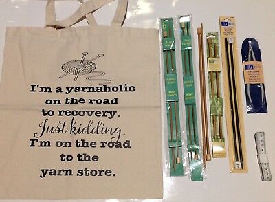 6 Sets Knitting Needles including Pony Bamboo - all new!
