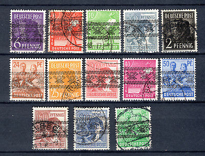 Germany 1948 Allied Occupation Overprints Currency Reform Used Stamps