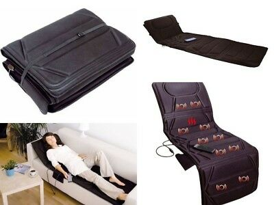 Full Body Massage Mattress Heated Massager With Remote Control Foldable