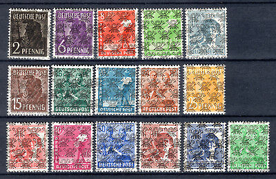 Germany 1948 Allied Occupation Overprints Currency Reform Mnh Stamps Un/mm