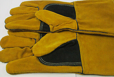 1 Pair SWP Gold Mig Welding Gauntlets / Gloves Premium Quality  * Lower Price *