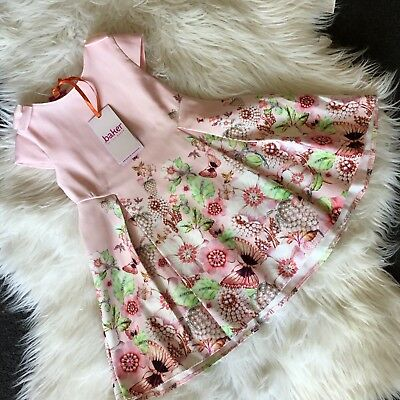 New Ted Baker Baby Girls Floral Print Prom Dress Age 9-12 Mths RRP £36