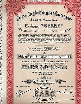 Beira Anglo Belgian Company -  'BEABE'