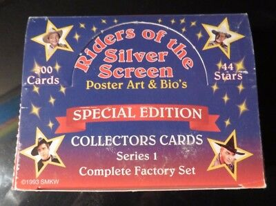 Vintage Riders of the Silver Screen Collectors Cards Series 1 - Special Edition