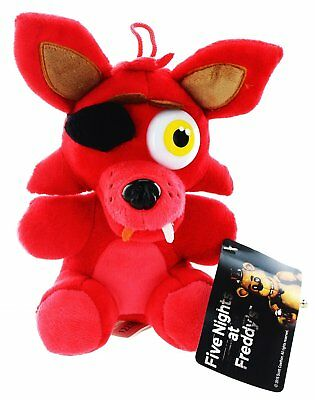 FIVE NIGHTS AT FREDDY'S FOXY Volpe Pirata PELUCHE Fazbear FnaF 25CM Animatronic