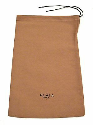 "New ALAIA Paris Dust Bag Shoes/Heels Storage Cover Drawstring Nude 8.5"" x 13.5"""
